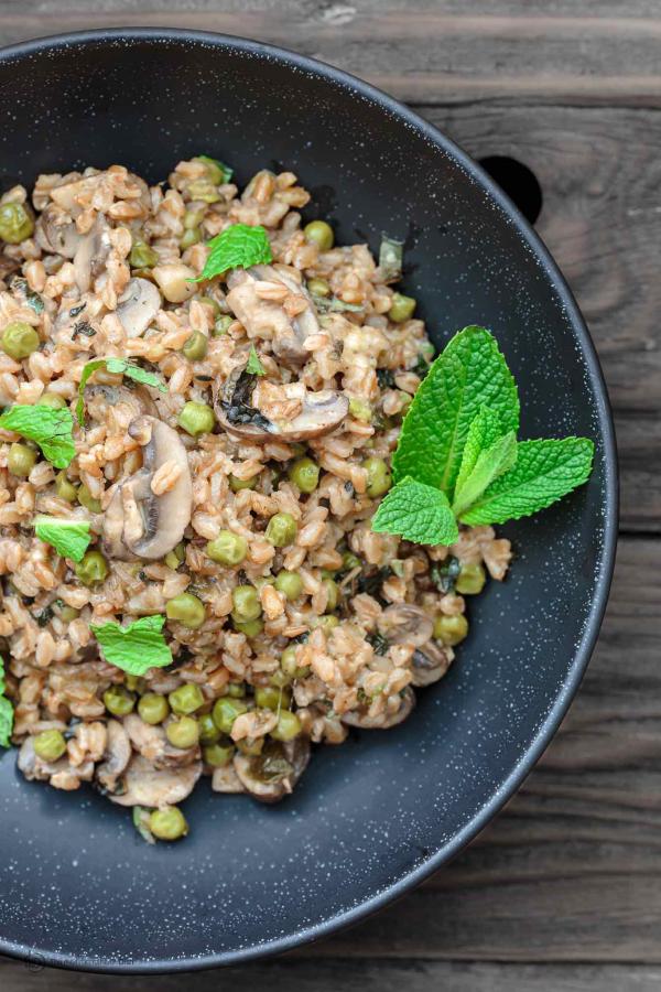 recette avec des champignons recette faro