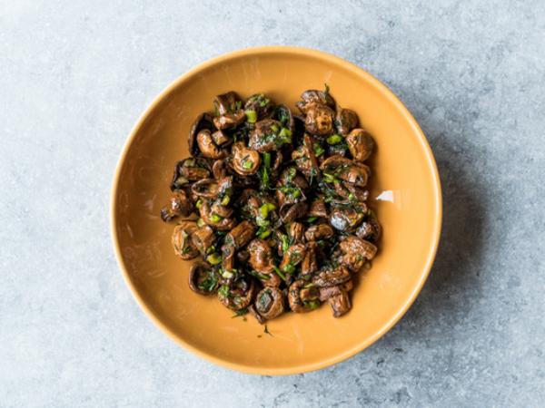 recette avec des champignons sautés à la sauce