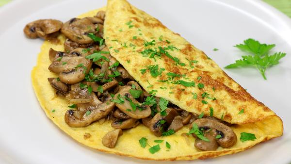 recette avec des champignons une omelette