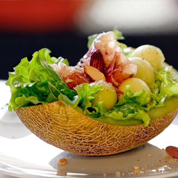 recette avec melon comme salade
