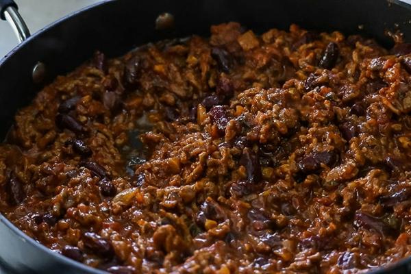 recette chili cone carne préparation