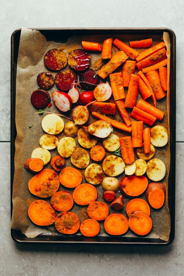 recette facile frites de patate douce et de légumes automnales