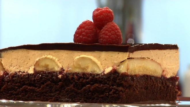 recette framboise tarte aux bananes