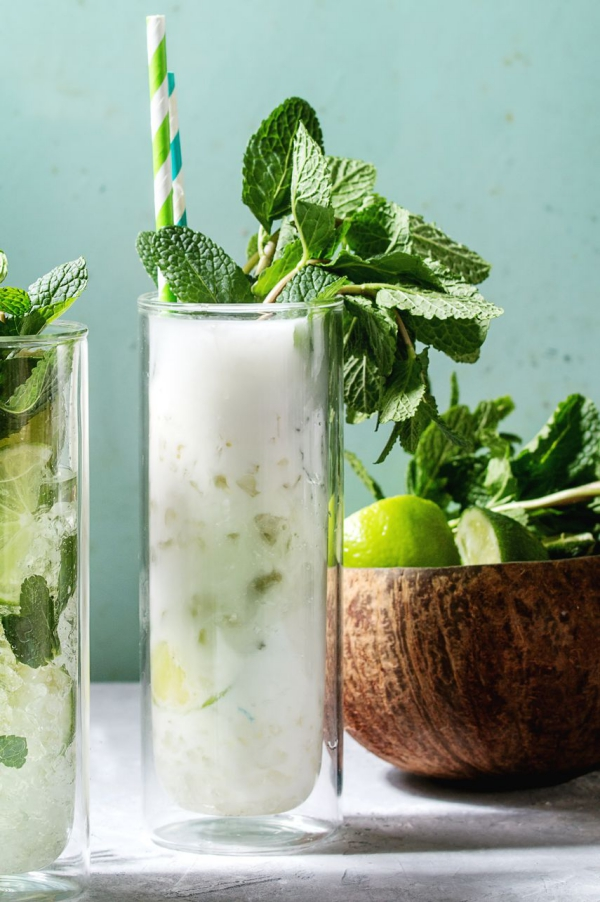 recette mojito feuilles fraîches de menthe