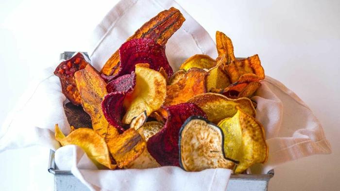 repas sain Frites de patates douces légumes d'automne mix