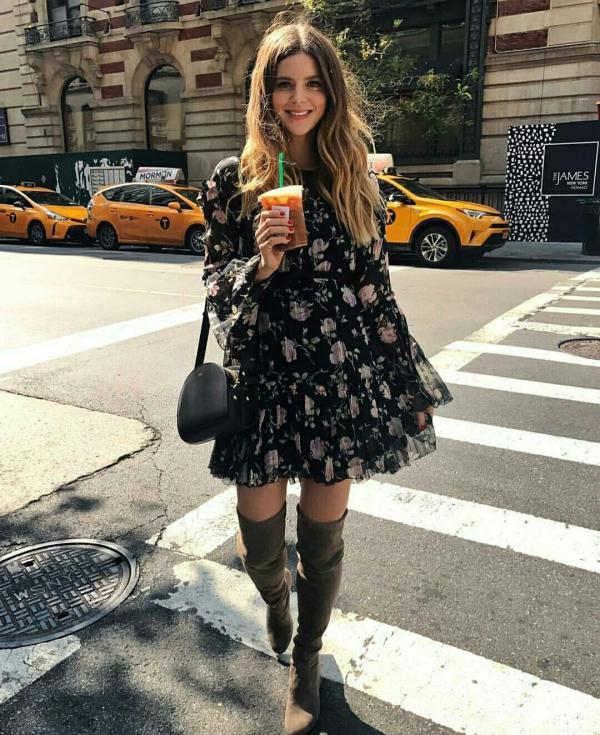robe élégante automne 2019 bottes hautes