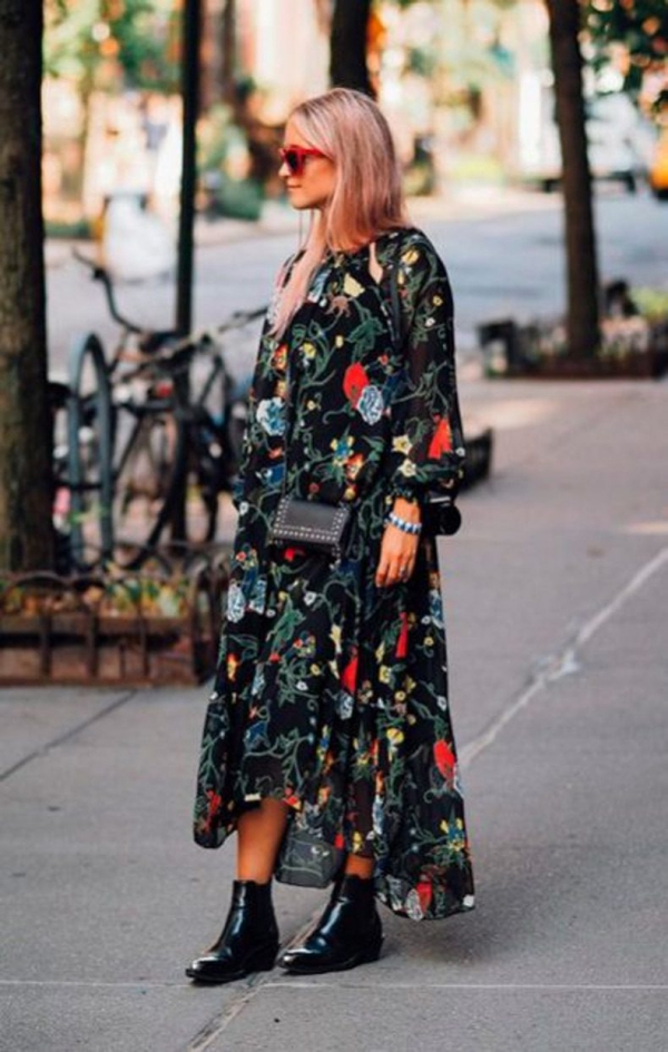 robe élégante automne 2019 bottines vintage