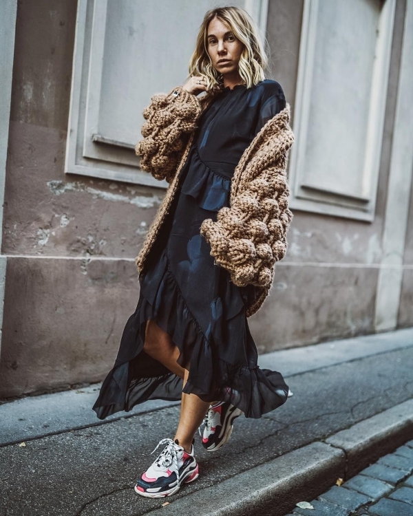robe élégante automne 2019 des volants