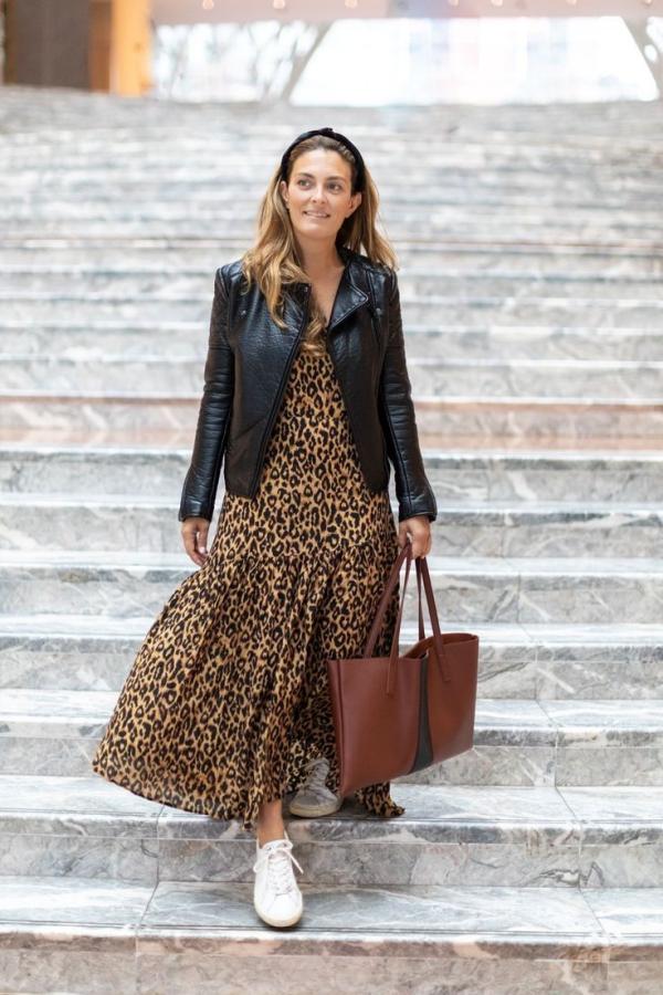 robe élégante automne 2019 motifs de peau de léopard
