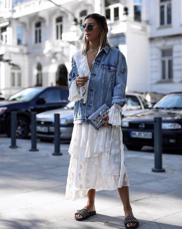robe élégante automne 2019 une veste denim