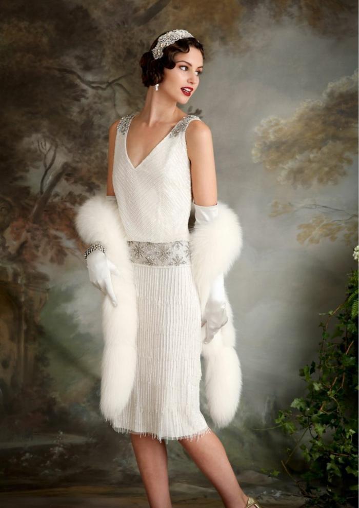 robe blanche déguisement années 20