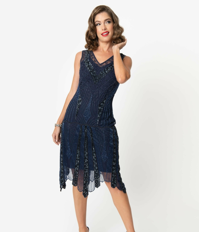 robe brillante style déguisement années 20