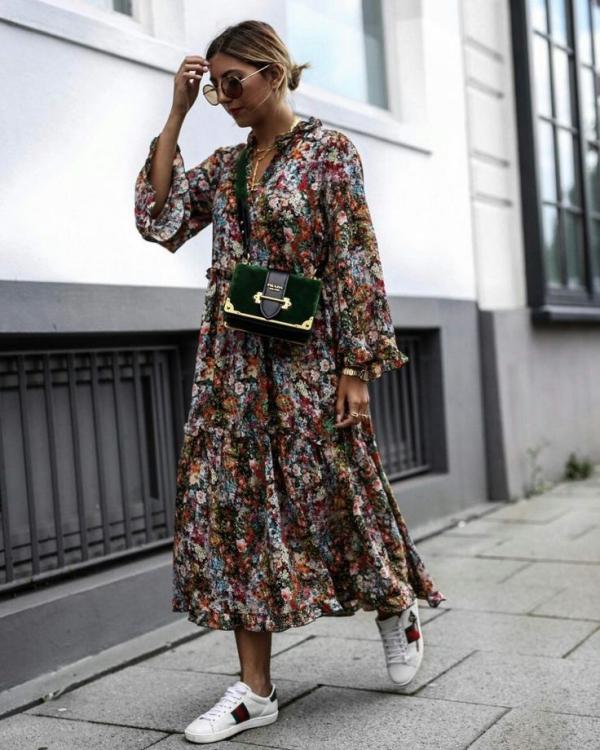 robe élégante automne 2019 robe multicolore