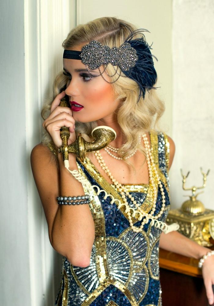 robe paillettée déguisement années 20