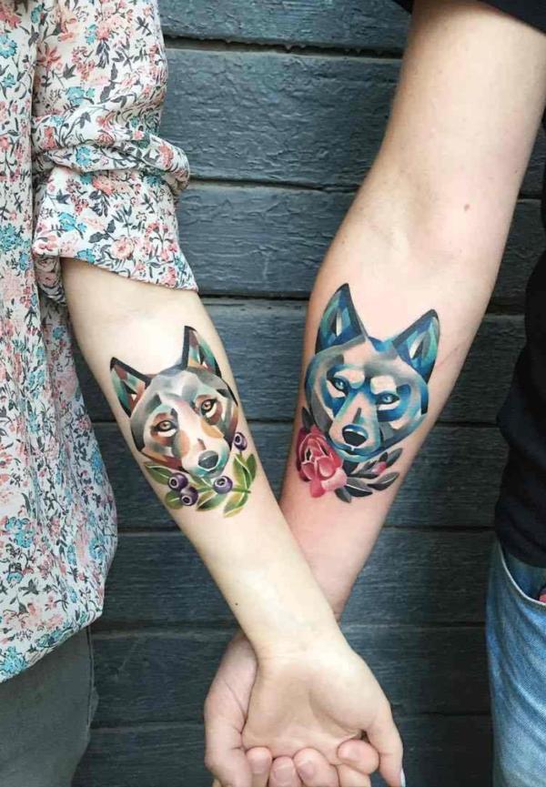 tatouage complémentaire animal pour couple