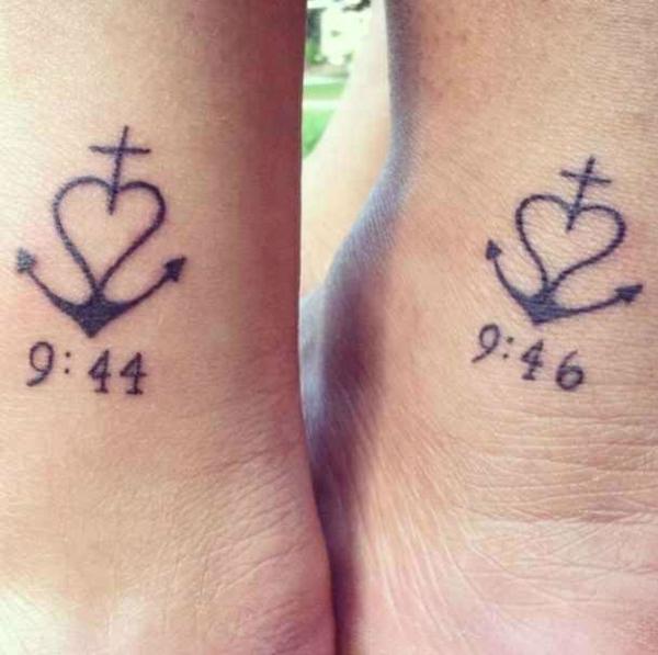 tatouage complémentaire date de naissance jumelles