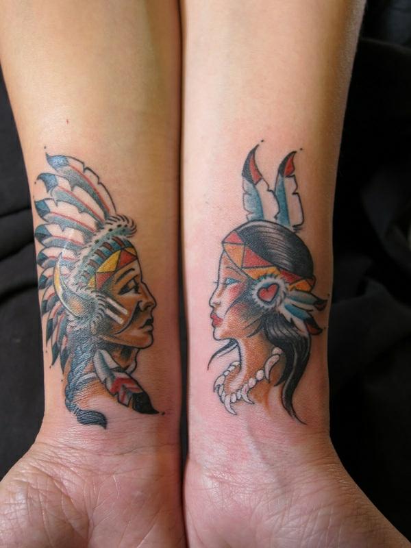 tatouage complémentaire indien et sa femme pour couple