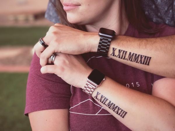 tatouage complémentaire pour couple date de mariage