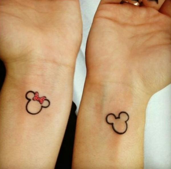 tatouage complémentaire pour couple sur la cheville