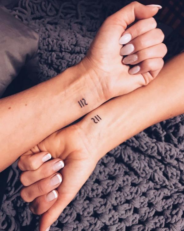 tatouage complémentaire pour filles meilleures amies