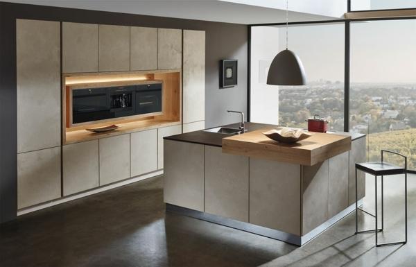 tendances cuisine 2020 mobilier en bois mat four encastré dans une niche