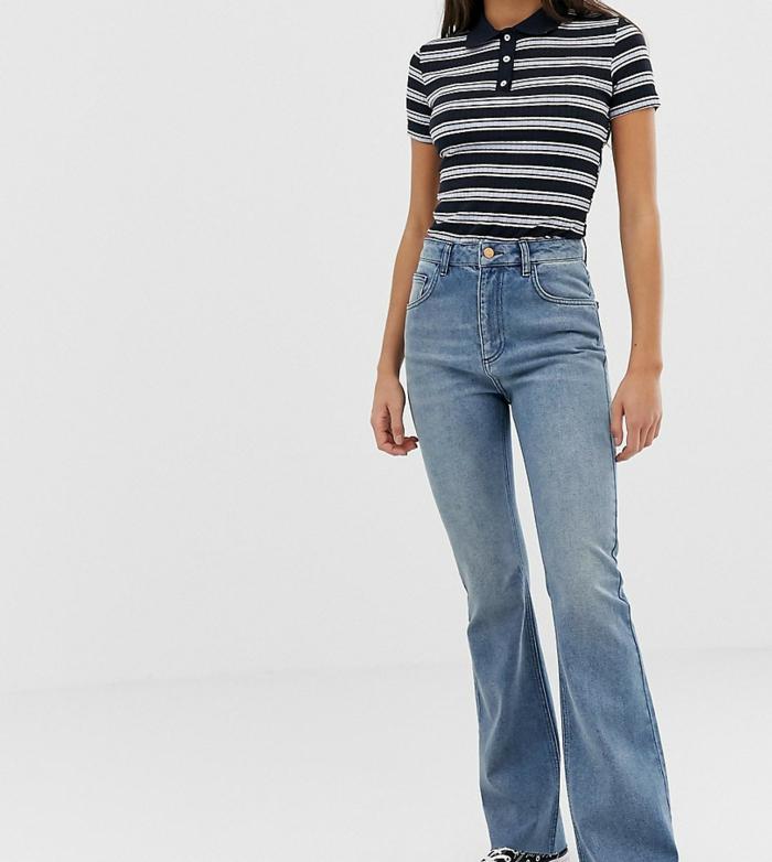 tenue sportive jean flare femme