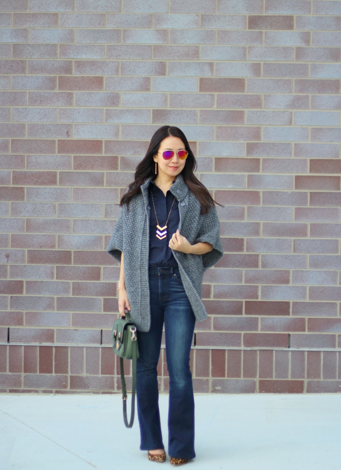tenue tendance pour adopter le jean flare femme