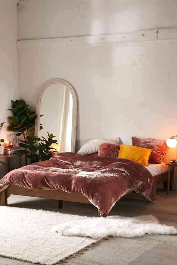 tissus d'ameublement dans la chambre à coucher
