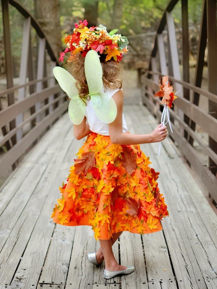 vêtements déco avec des feuilles d'automne idée activités manuelles automne