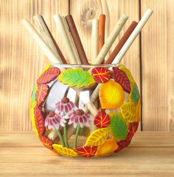 vase style automne idée activités manuelles automne
