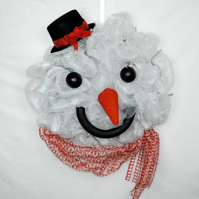 éponge de bain idée diy bonhomme de neige en chaussette
