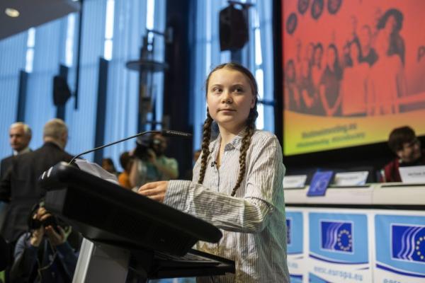 Gréta Thunberg devant l'ONU