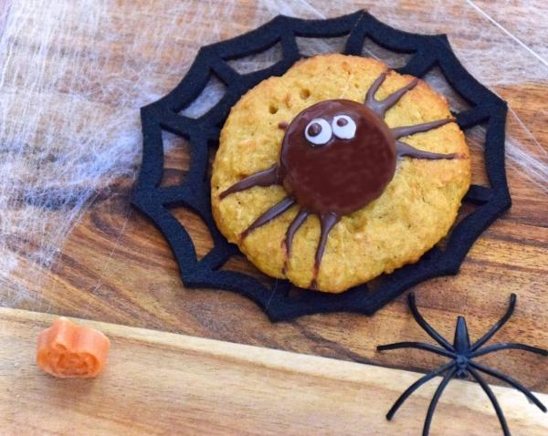 Idée recette Halloween araignée sur une toile