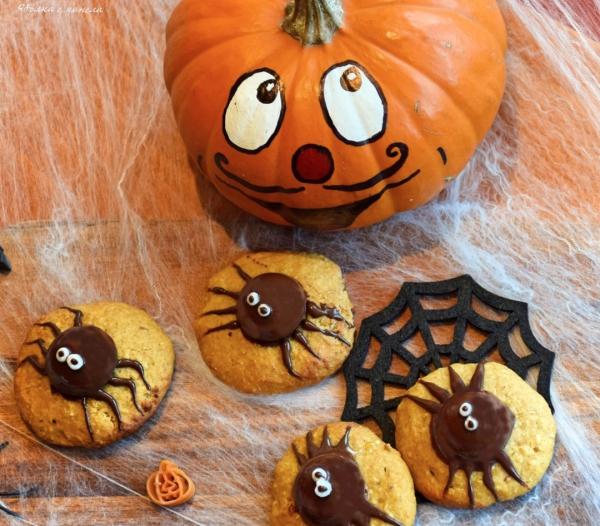 Idée recette Halloween biscuits araignées