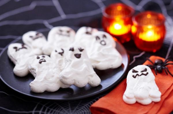 Idée recette Halloween gâteaux blancs