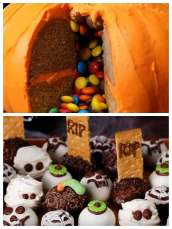 Idée recette Halloween citrouille avec bonbons