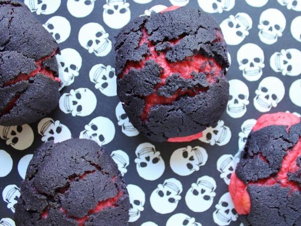 Idée recette Halloween gâteaux fendus