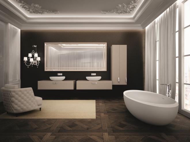 aménagement de salle de bain très luxueux