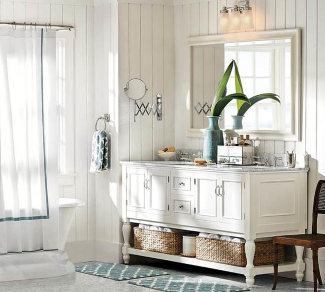 aménagement de salle de bain style vintage