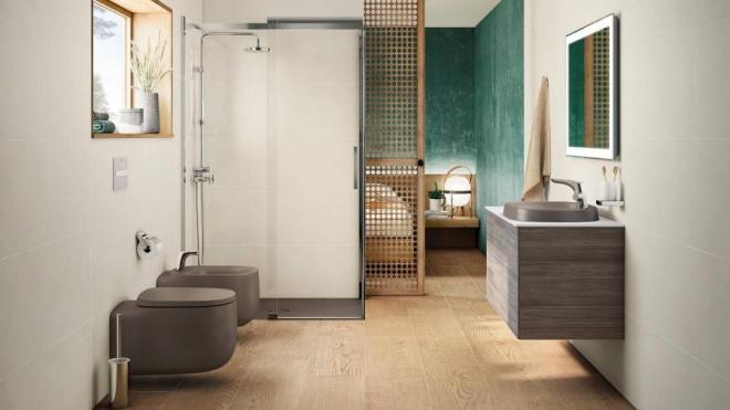aménagement de salle de bain nuances du gris
