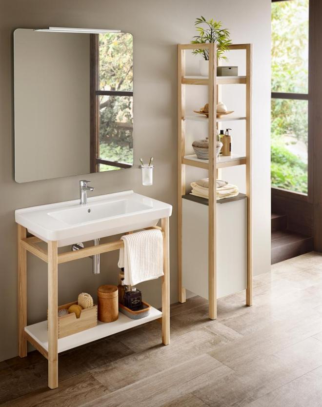 aménagement de salle de bain rangement simplifié