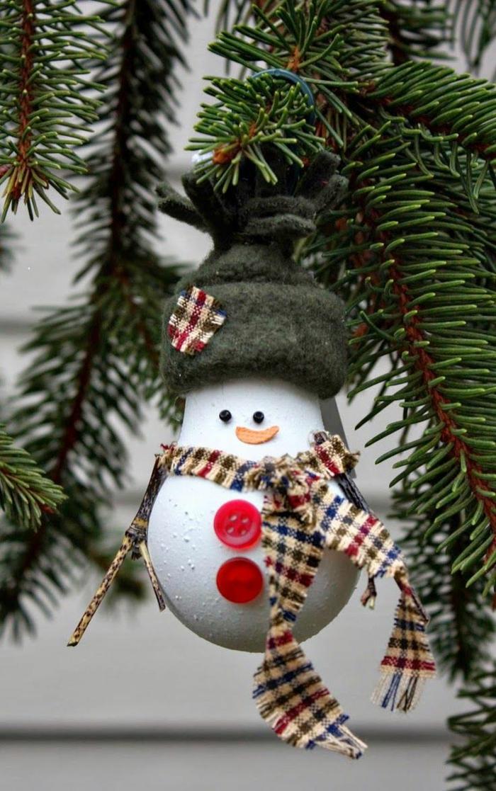 ampoule électrique bonhomme de neige en chaussette déco noël diy
