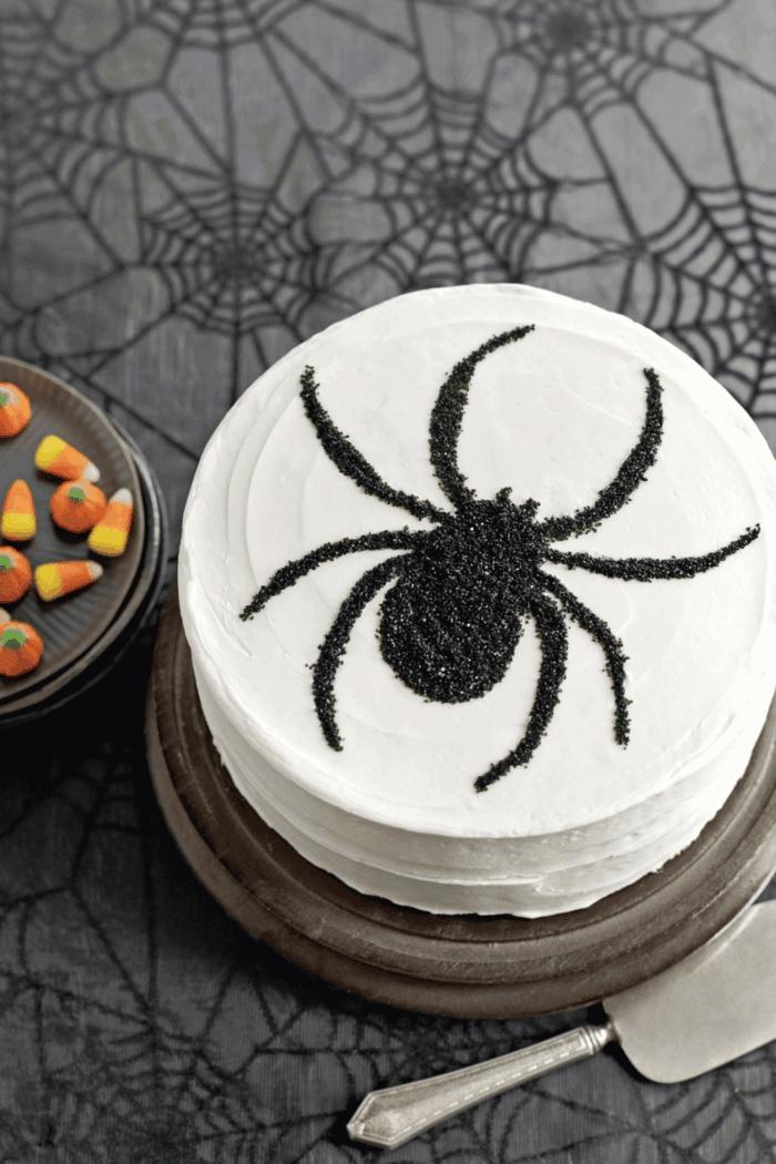araignée gâteau halloween