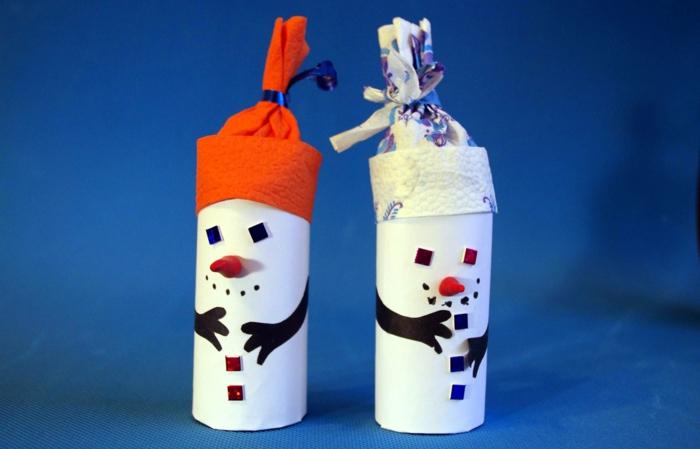 bonhomme de neige en chaussette bricolage enfant idée