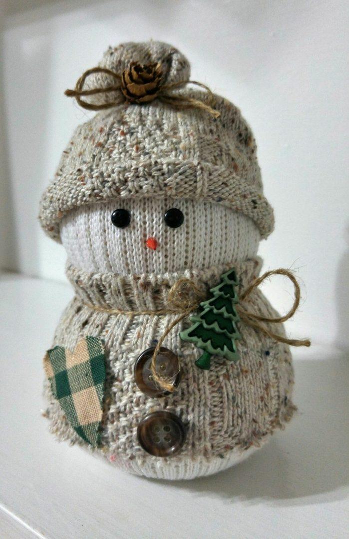 bonhomme de neige en chaussette idée facile