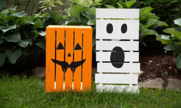 bricolage halloween avec des palettes de bois