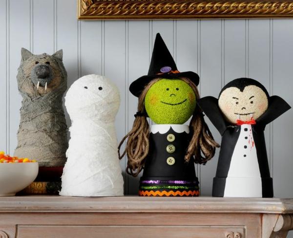 bricolage halloween avec des pots en terre cuite