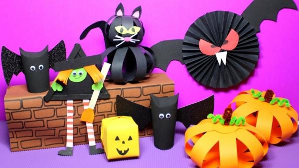 bricolage halloween avec du carton coloré