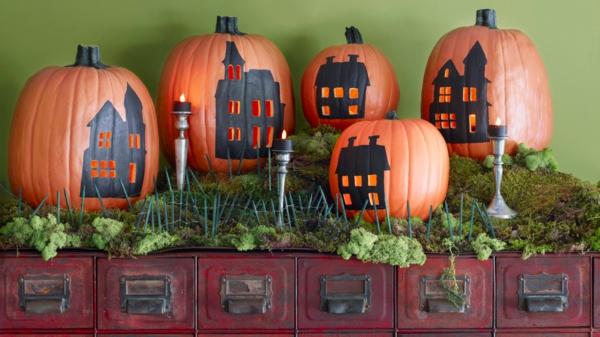 bricolage halloween citrouilles décorées