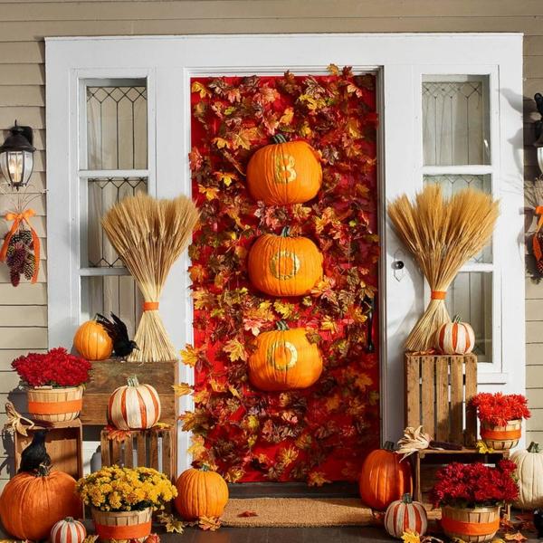 bricolage halloween déco de porte d'entrée